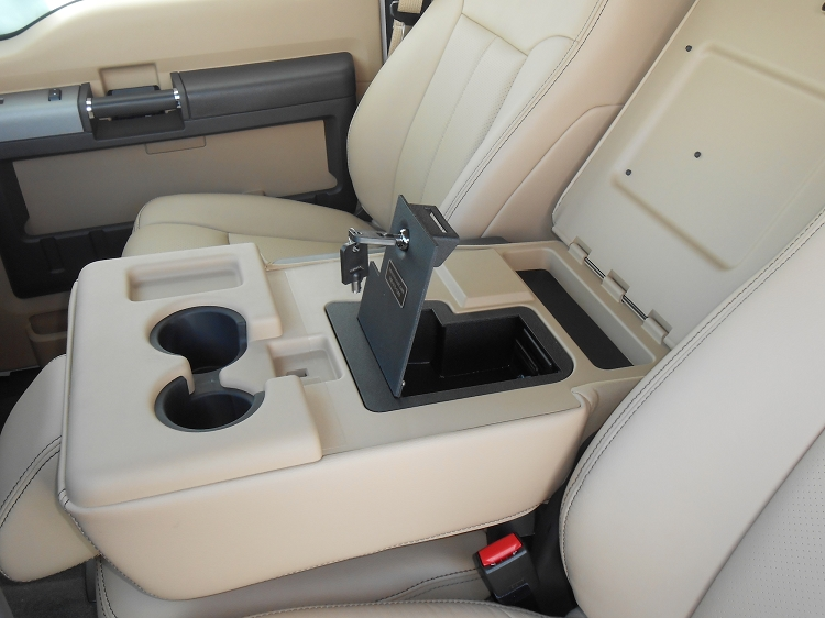 Ford F250 Super Duty Fold Down Arm Rest Console Vault