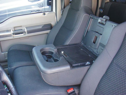 Ford F350 Super Duty Fold Down Arm Rest Console Vault