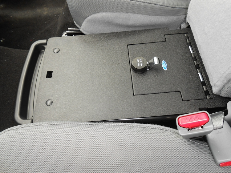 ford   front middle seat console vault