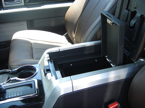 How To Program Nissan Key >> Ford F150 Flow Through Floor Console Vault: 2012 - 2014