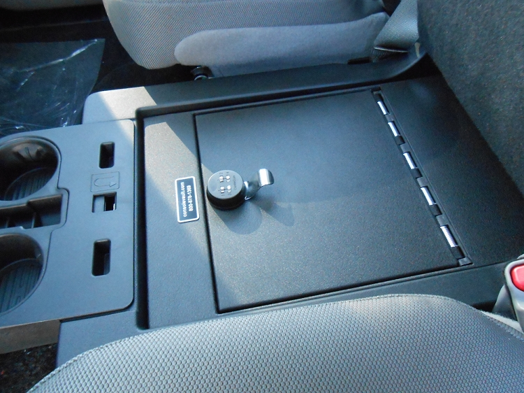 Ford F450 Super Duty Under Front Middle Console Vault: 2017-2021