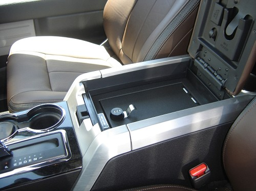 Ford F150 Flow Through Floor Console Vault: 2009 - 2014