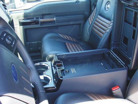 Ford F250/F350 Super Duty Floor Console Vault: 2000 - 2010